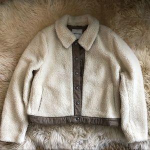 🐻 MADEWELL Cropped Sherpa Jacket